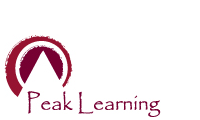 Peak Learning Pty Limited logo with link to company email.